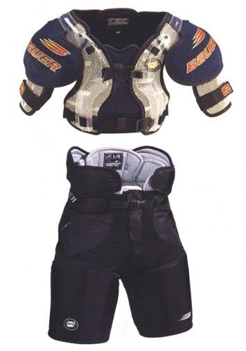 épaulettes et pantalon de hockey Vapor – Vapor hockey shoulder pads & pant – Bauer