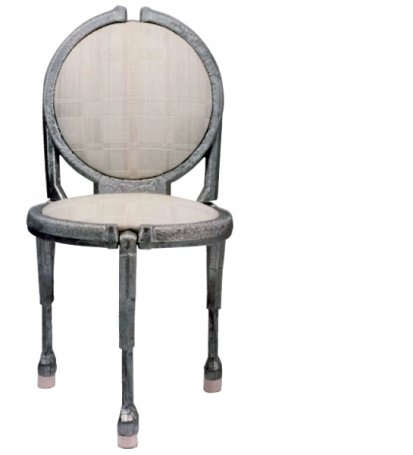 chaise en aluminium coulée – casted aluminum chair