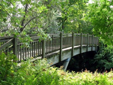 structure de parc - pont en bois – park structure - wooden bridge